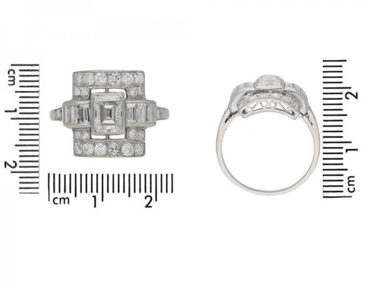 Art Deco diamond ring, American, circa 1935. berganza hatton garden