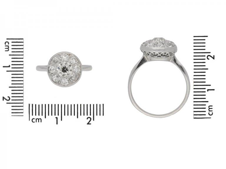 Diamond Coronet cluster ring, circa 1920. berganza hatton garden