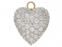 front view Antique diamond pendant/brooch berganza hatton garden