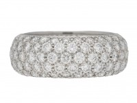 front view Tiffany & Co diamond ring berganza hatton garden