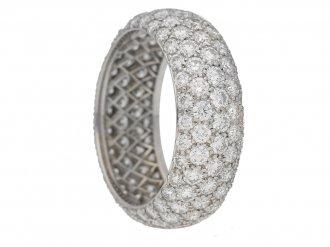 front view Tiffany & Co diamond ring berganza hatton garden