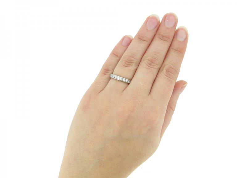 hand view Diamond half eternity ring Tiffany & Co berganza hatton garden