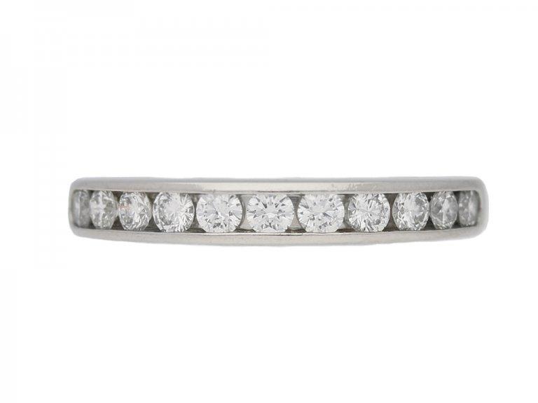 front view Diamond half eternity ring Tiffany & Co berganza hatton garden
