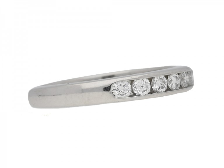 side view Diamond half eternity ring Tiffany & Co berganza hatton garden