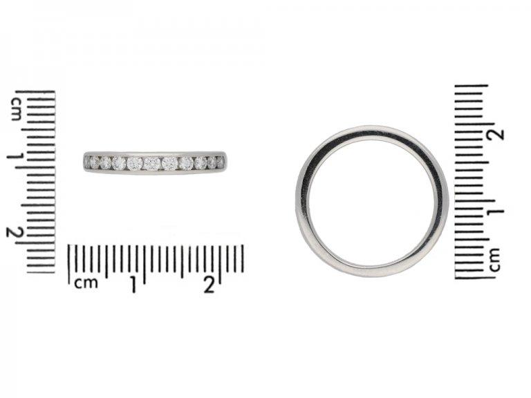 size view Diamond half eternity ring Tiffany & Co berganza hatton garden