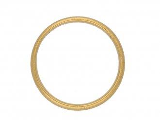 front vintage yellow gold wedding ring berganza hatton garden