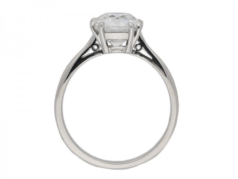 Solitaire old cut diamond ring, circa 1950. berganza hatton garden