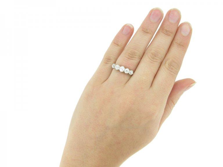 Five stone diamond ring, circa 1920. berganza hatton garden