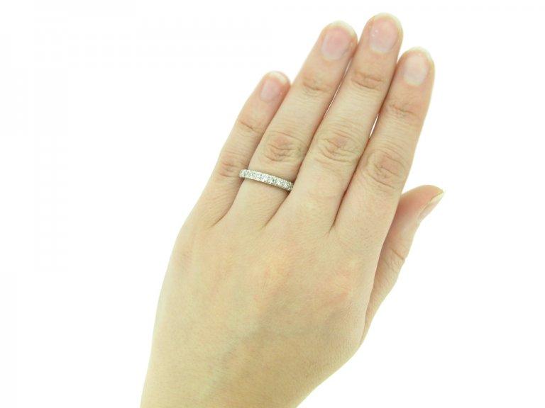 Diamond set eternity ring, circa 1950. berganza hatton garden