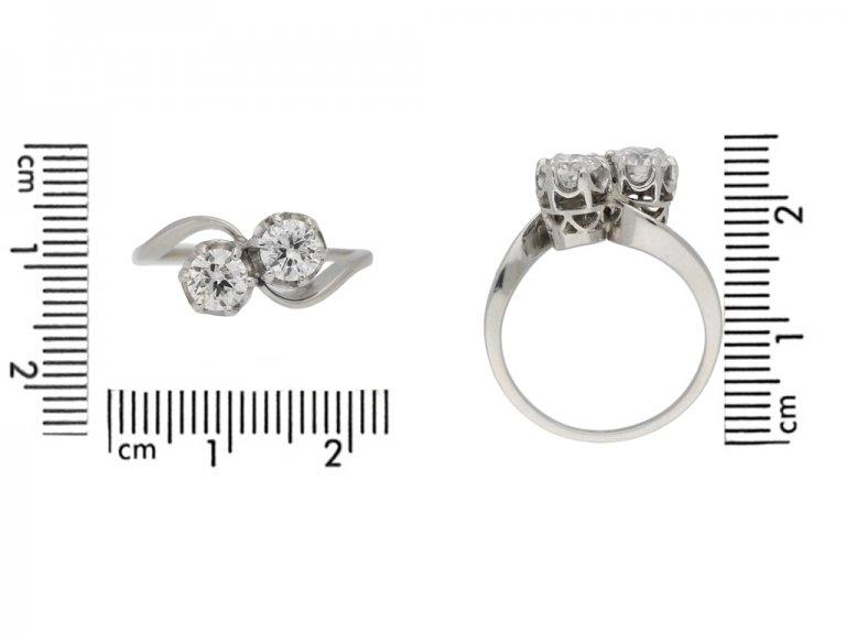 Diamond cross over ring, circa 1950. berganza hatton garden