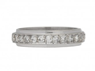 front Diamond set eternity ring, circa 1950. berganza hatton garden