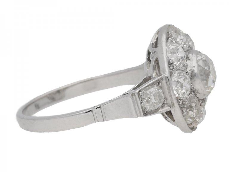 Art Deco diamond cluster ring, circa 1935. berganza hatton garden