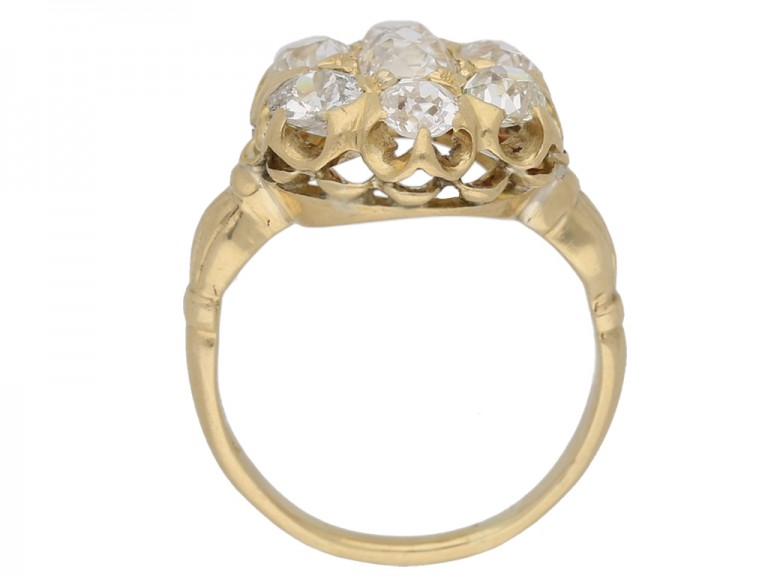 Antique diamond cluster ring by Birks of Canada, circa 1890. berganza hatton garden