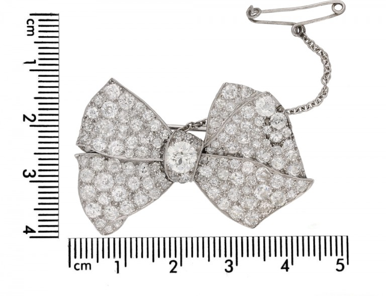 diamond bow brooch berganza hatton garden