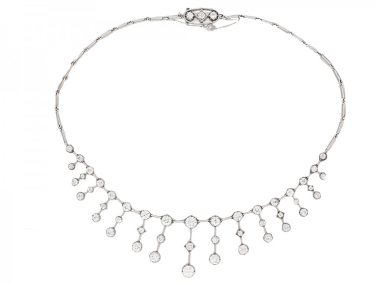 Antique diamond necklace, circa 1880. berganza hatton garden