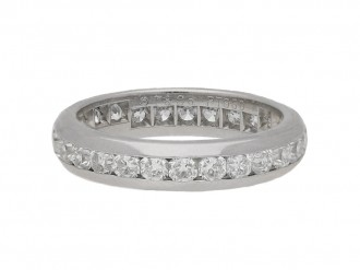 front view Tiffany Lucida diamond eternity ring, circa 2003.