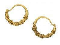 Ancient Greek wirework earrings, circa 5th 4th century BC. berganza hatton garden