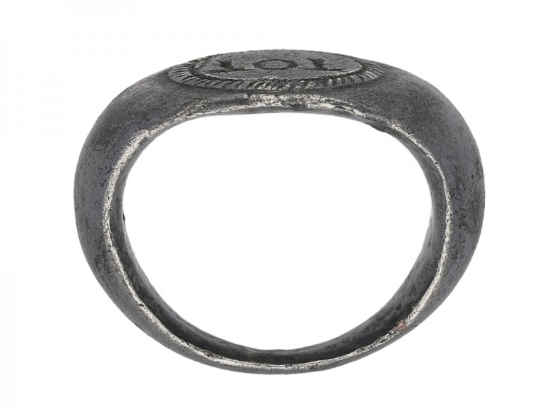 Roman Celtic God Toutatis amuletic silver ring, circa 2nd 4th century AD. berganza hatton garden