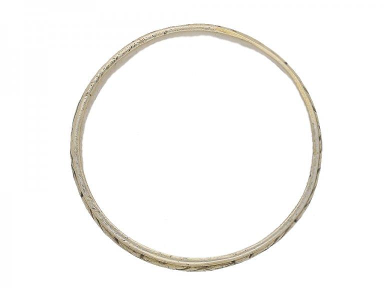 Medieval silver gilt band ring, circa 15th 16th century AD. berganza hatton garden
