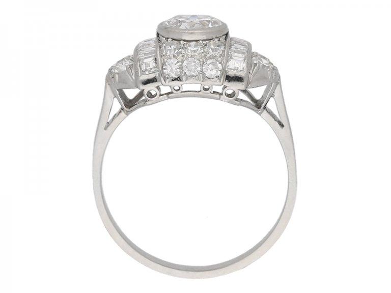 Fancy diamond cluster ring, circa 1935. berganza hatton garden