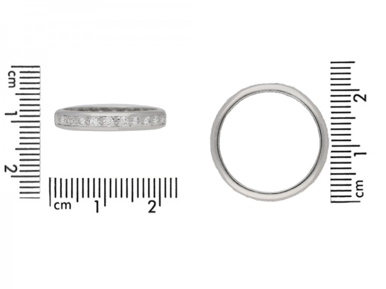 Diamond set eternity ring, circa 1950. berganza hatton garden