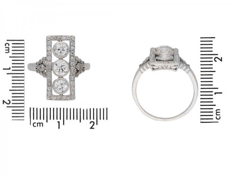 size view Edwardian diamond ring, circa 1905. berganza hatton garden