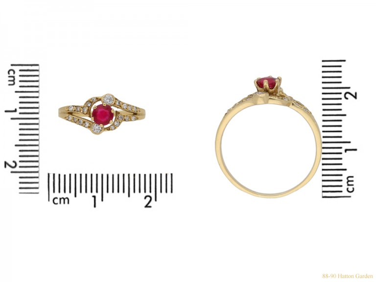 Ruby and diamond ring,French circa 1970 berganza hatton garden