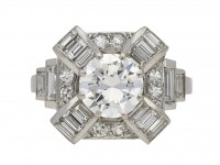 front view Art Deco diamond cluster ring, French, circa 1935. berganza hatton garden