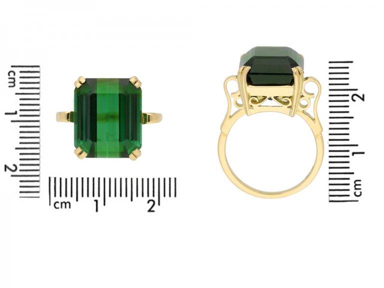 Vintage green tourmaline ring berganza hatton garden