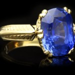 Antique Ceylon sapphire solitaire ring, English, circa 1900.