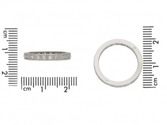 Diamond set eternity ring, French, circa 1950. berganza hatton garden