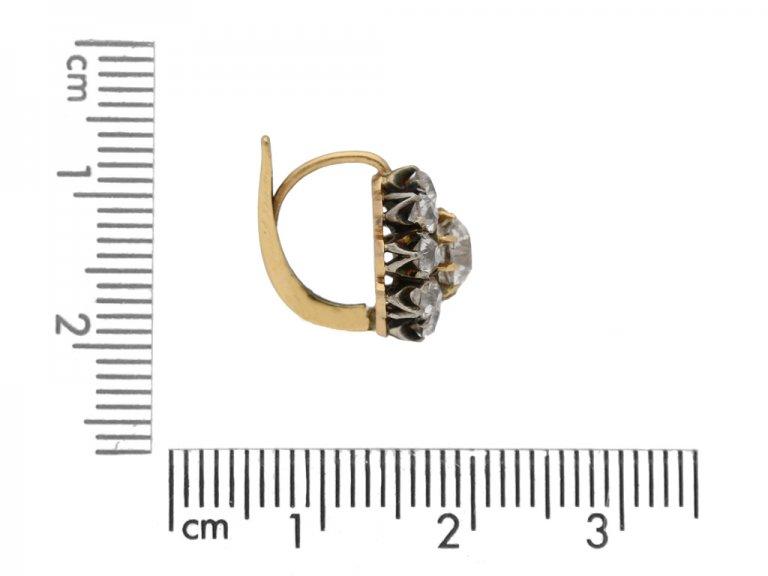 Antique diamond cluster earrings, circa 1890. berganza hatton garden