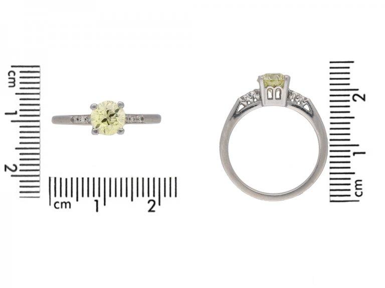 vintage yellow diamond ring berganza hatton garden