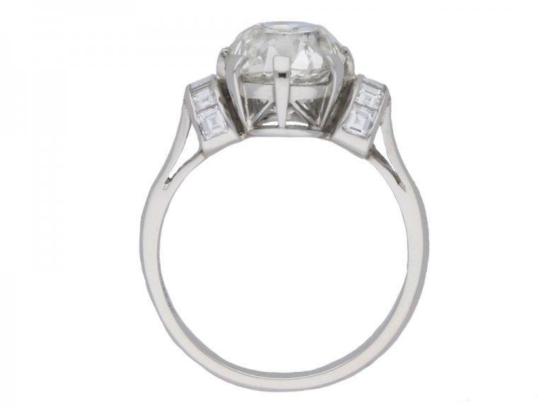 back view antique diamond engagement ring berganza hatton garden