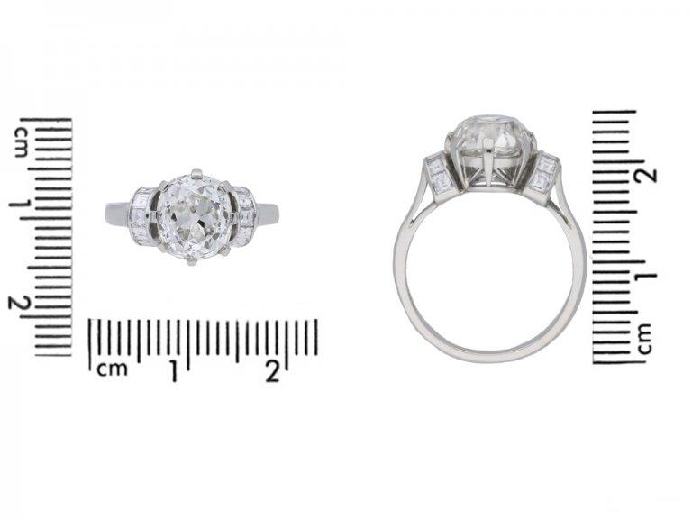 size view antique diamond engagement ring berganza hatton garden