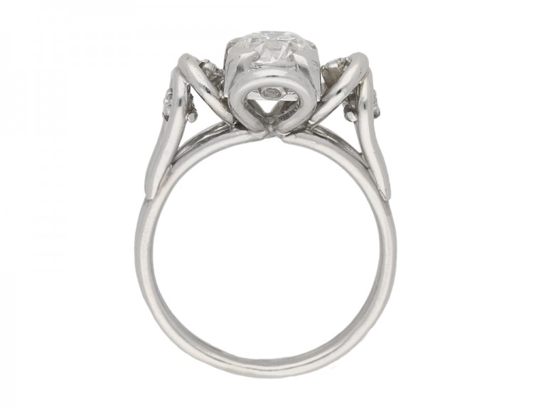 back view Vintage diamond  engagement ring berganza hatton garden
