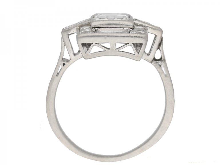 back view Art Deco diamond ring, circa 1930. berganza hatton garden