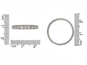 Antique Diamond eternity ring hatton garden berganza