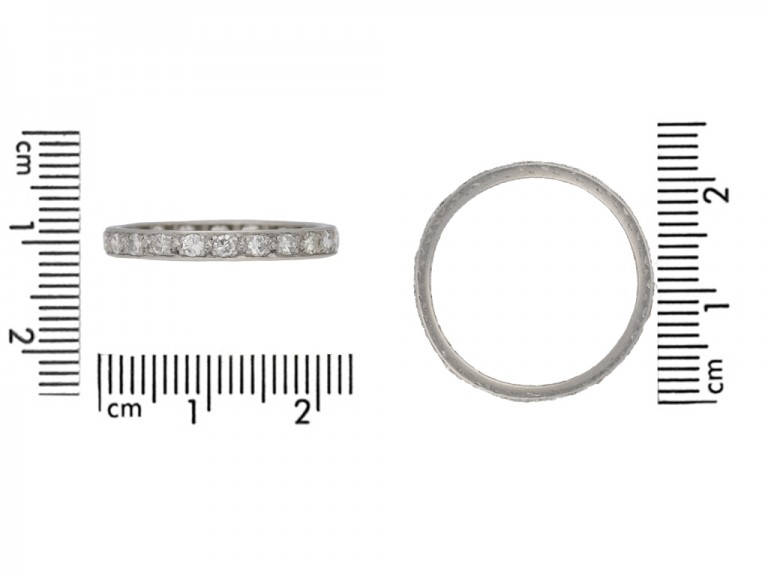 Antique Diamond eternity ring hatton garden berganza