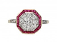 Diamond and ruby cluster ring, circa 1921. berganza hatton garden