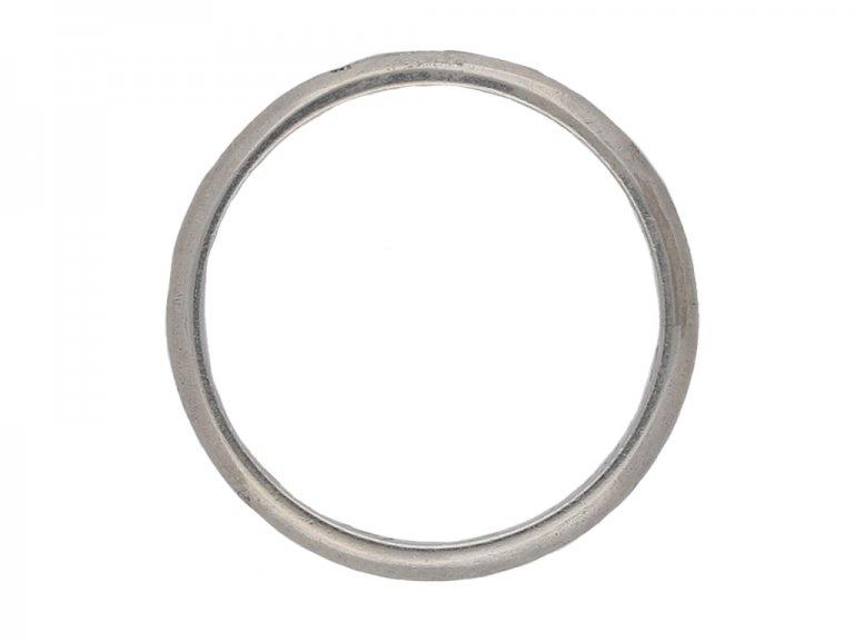 Vintage platinum wedding ring, French berganza hatton garden