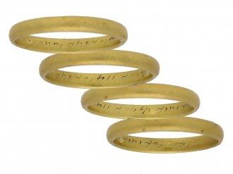 Posy ring 'Let love abide till death divide', circa 1750. berganza hatton garden