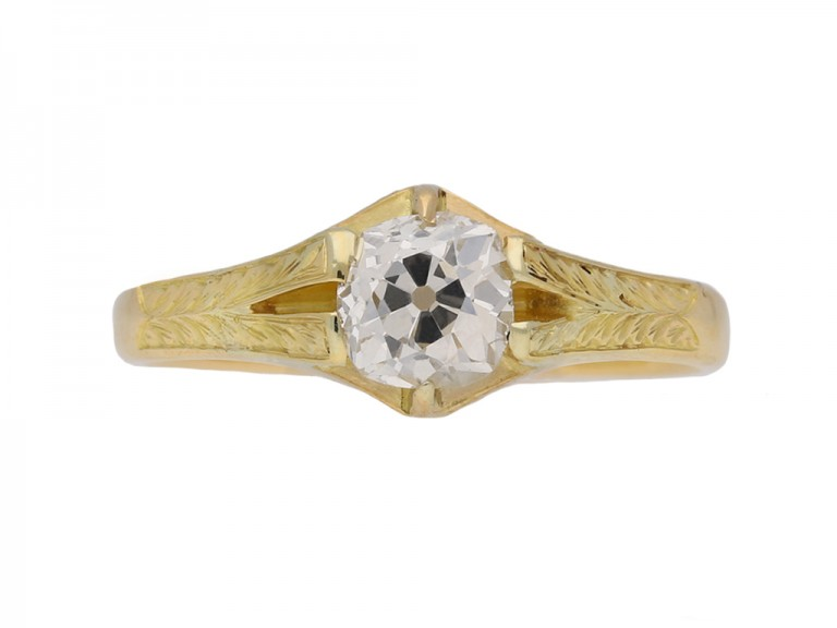 Antique diamond ring, circa 1900.