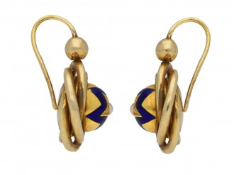 Antique pearl enamel earrings berganza hatton garden