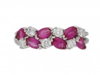 Oscar Heyman pink sapphire diamond ring berganza hatton garden