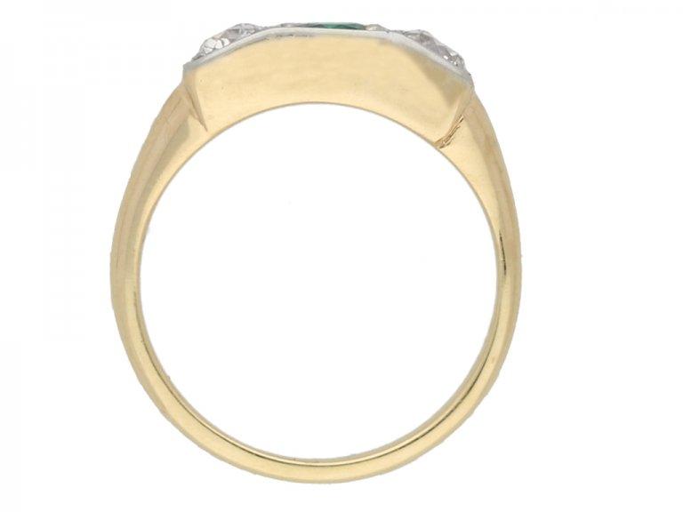 antique diamond emerald ring berganza hatton garden