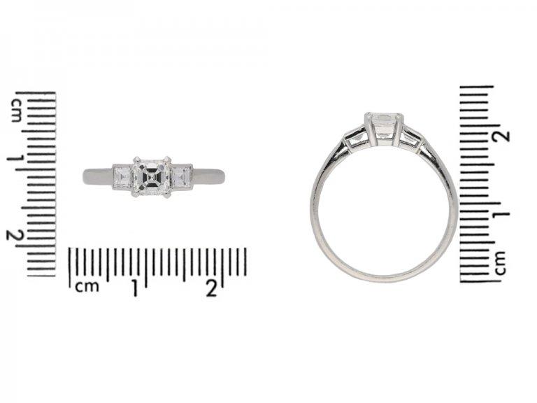 Art Deco engagement diamond ring hatton garden berganza
