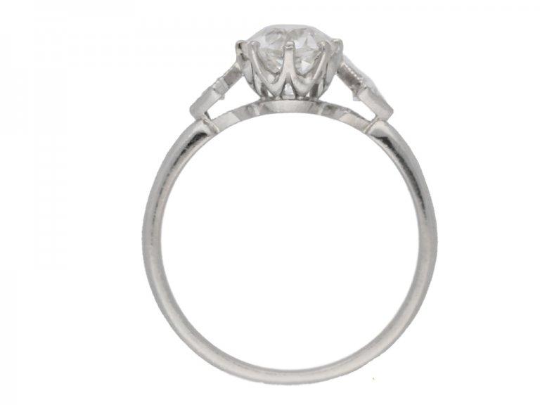 Antique diamond ring hatton garden berganza