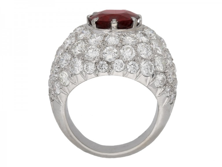 intage spinel diamond cocktail ring garden berganza