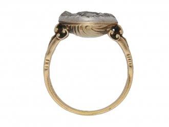 Georgian diamond cluster ring berganza hatton garden